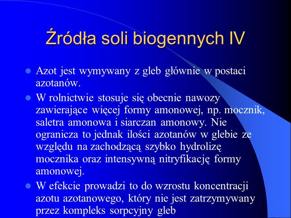 Źródła soli biogennych IV