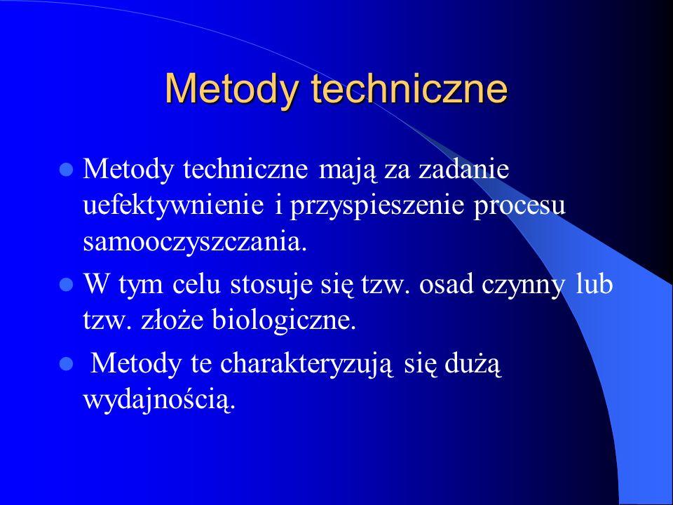 Metody techniczne Metody techniczne mają za zadanie uefektywnienie i przyspieszenie procesu samooczyszczania.