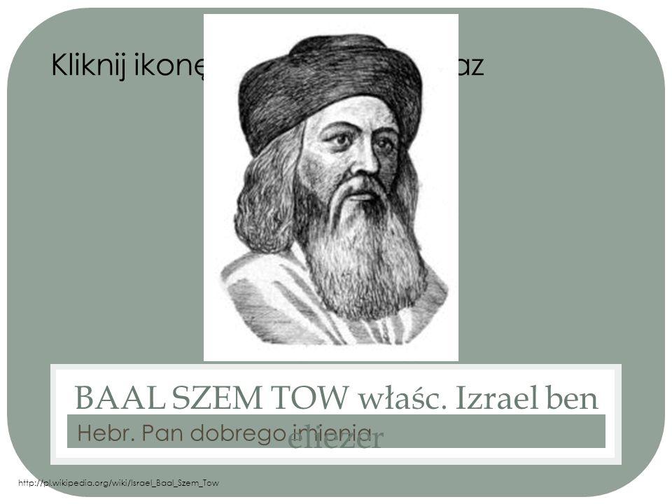 BAAL SZEM TOW właśc. Izrael ben eliezer
