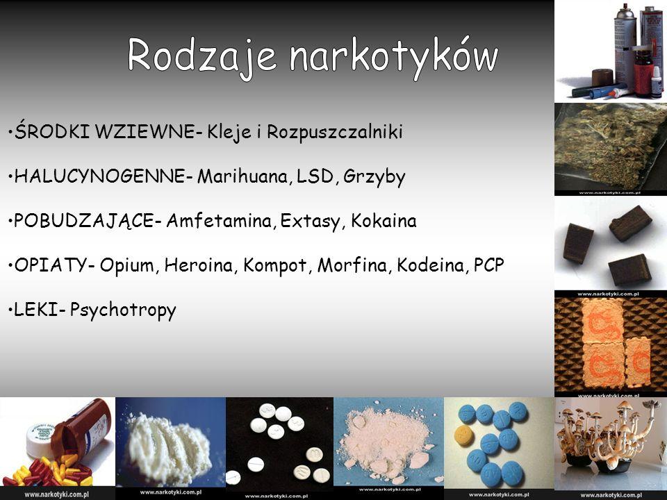 Rodzaje narkotyków ŚRODKI WZIEWNE- Kleje i Rozpuszczalniki