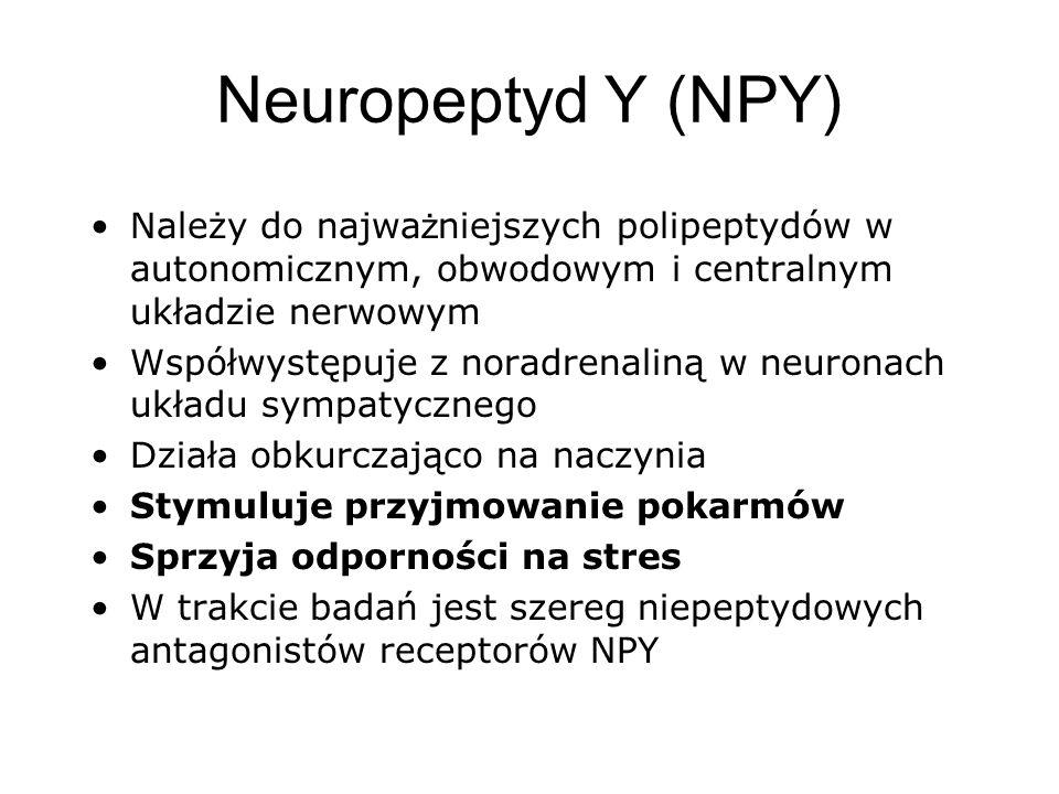Neuropeptyd Y (NPY) Należy do najważniejszych polipeptydów w autonomicznym, obwodowym i centralnym układzie nerwowym.