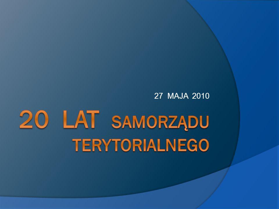 20 lat samorządu terytorialnego
