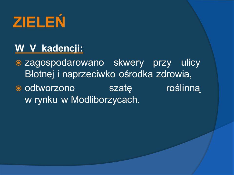 ZIELEŃ W V kadencji: zagospodarowano skwery przy ulicy Błotnej i naprzeciwko ośrodka zdrowia,