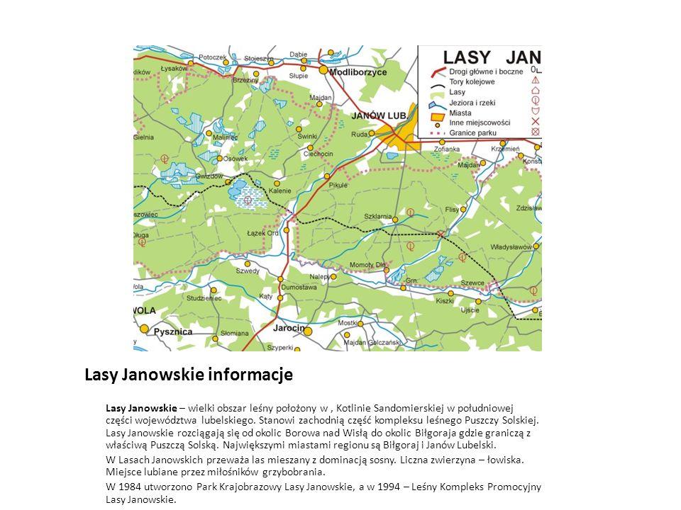 Lasy Janowskie informacje