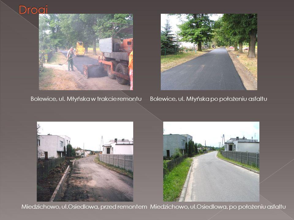 Drogi Bolewice, ul. Młyńska w trakcie remontu