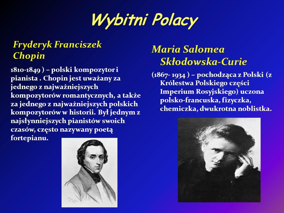 Wybitni Polacy Maria Salomea Skłodowska-Curie