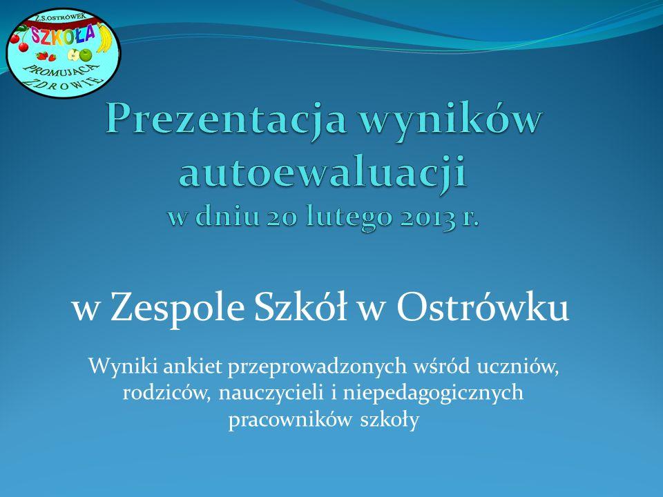 Prezentacja wyników autoewaluacji w dniu 20 lutego 2013 r.