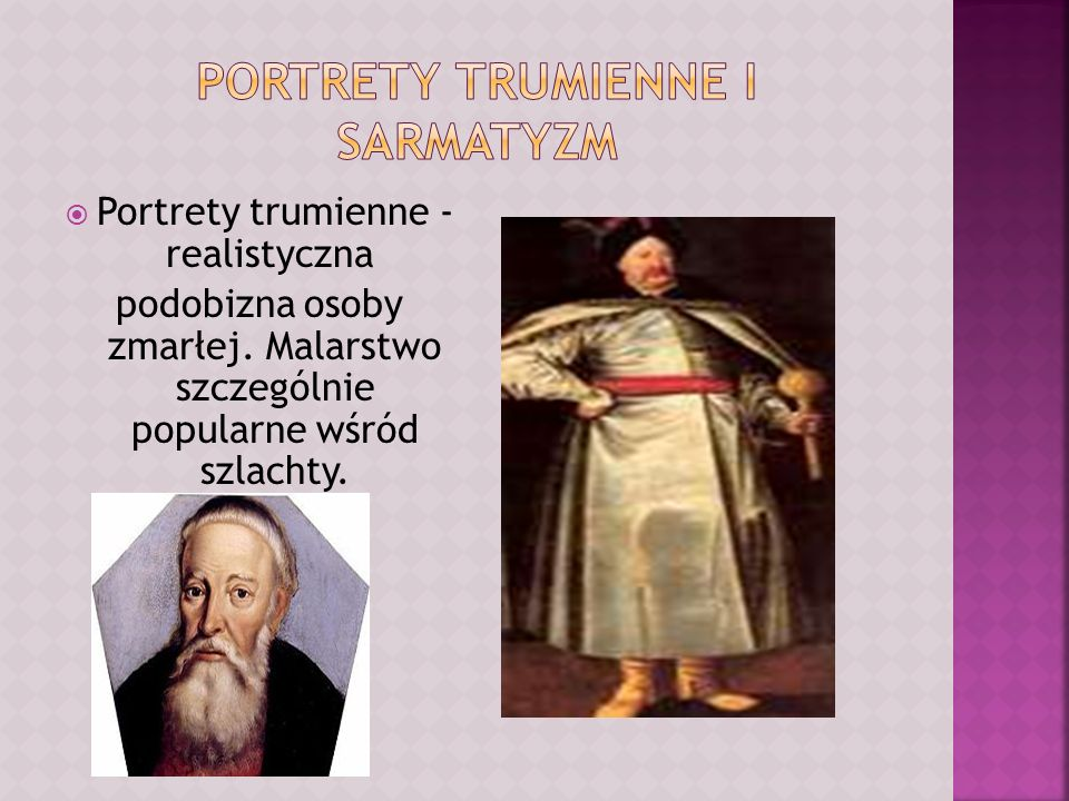 Portrety trumienne i sarmatyzm