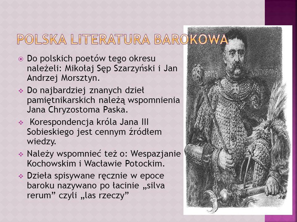 Polska literatura barokowa