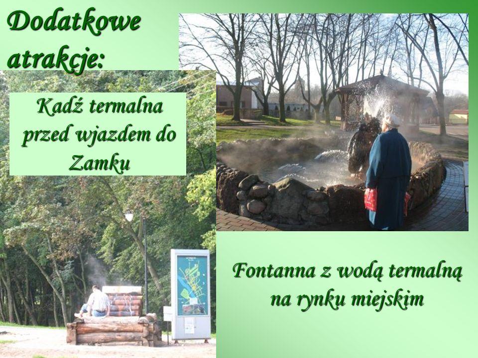 Kadź termalna przed wjazdem do Zamku