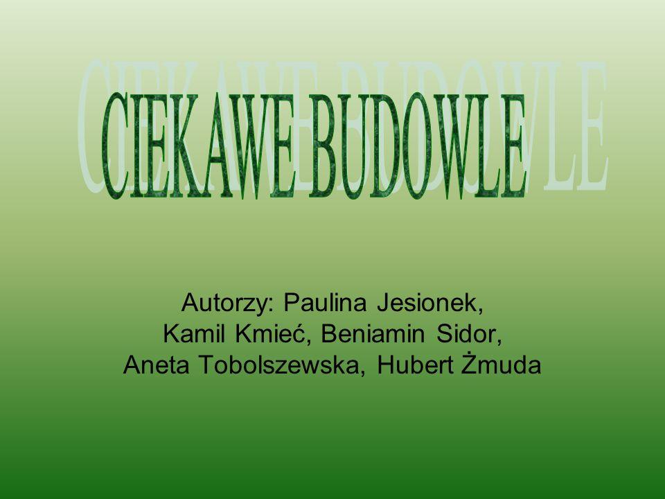 CIEKAWE BUDOWLE Autorzy: Paulina Jesionek, Kamil Kmieć, Beniamin Sidor, Aneta Tobolszewska, Hubert Żmuda.