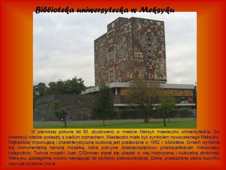 Biblioteka uniwersytecka w Meksyku