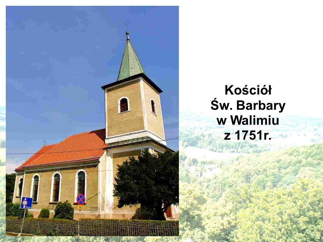 Kościół Św. Barbary w Walimiu z 1751r.