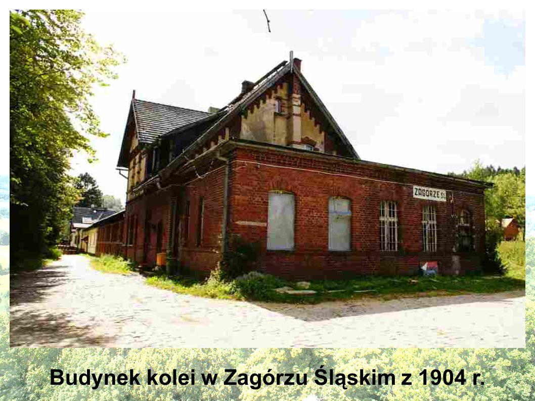 Budynek kolei w Zagórzu Śląskim z 1904 r.