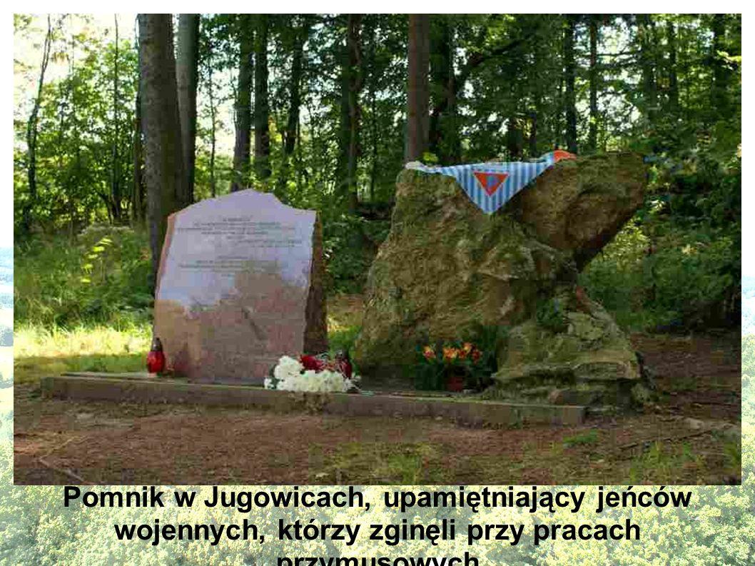 Pomnik w Jugowicach, upamiętniający jeńców wojennych, którzy zginęli przy pracach przymusowych
