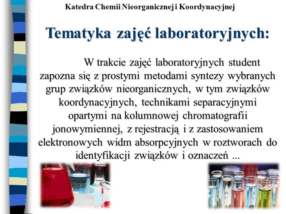 Katedra Chemii Nieorganicznej i Koordynacyjnej
