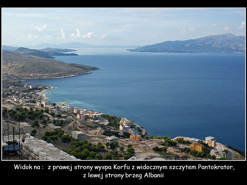 z lewej strony brzeg Albanii