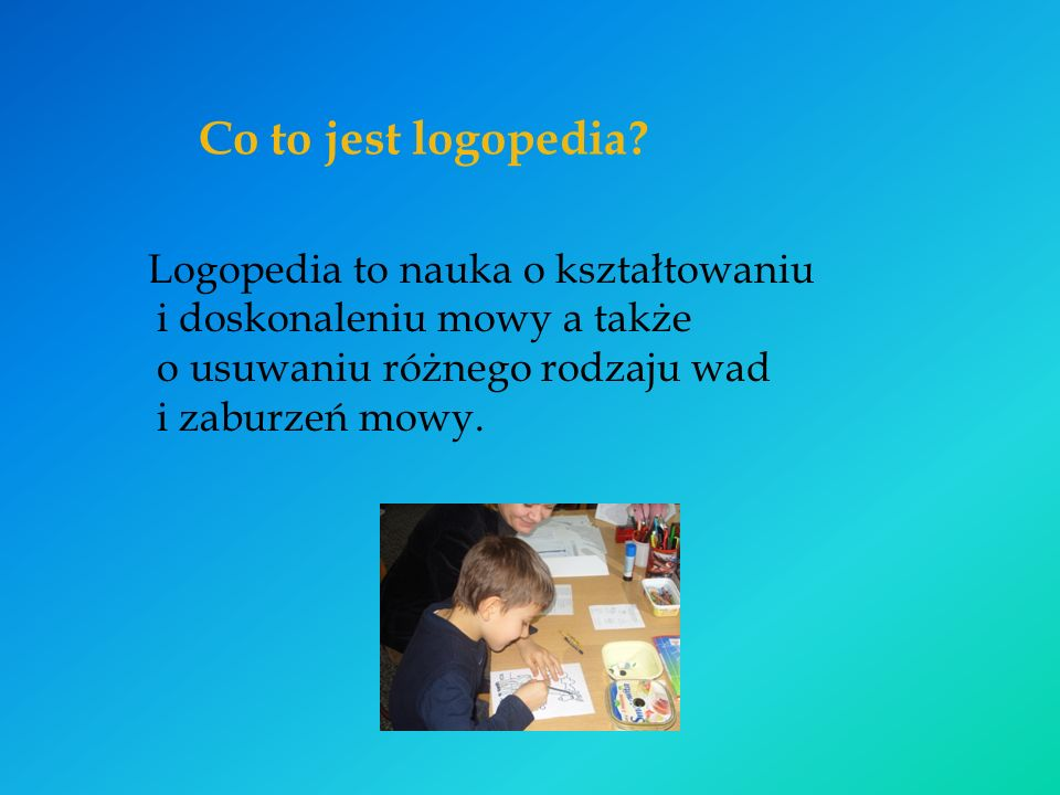 Co to jest logopedia