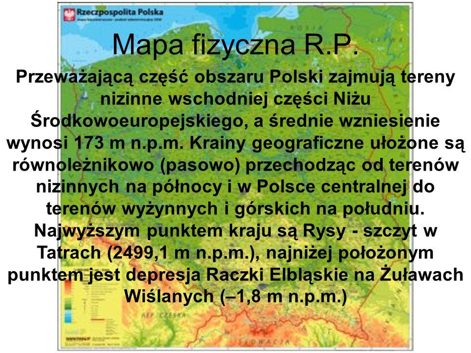 Mapa fizyczna R.P.