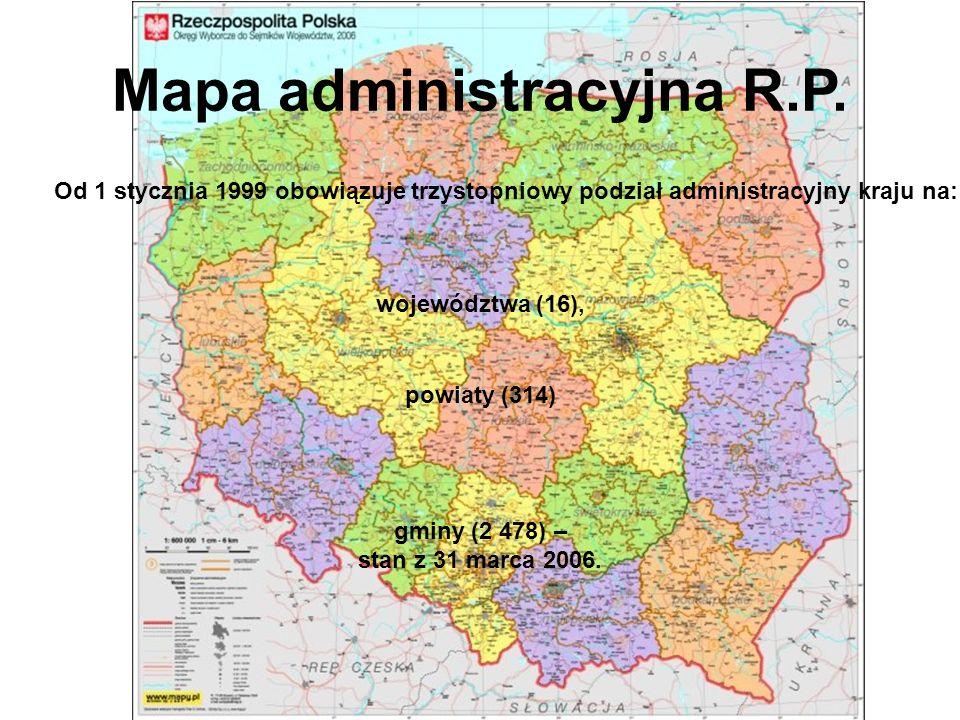 Mapa administracyjna R.P.
