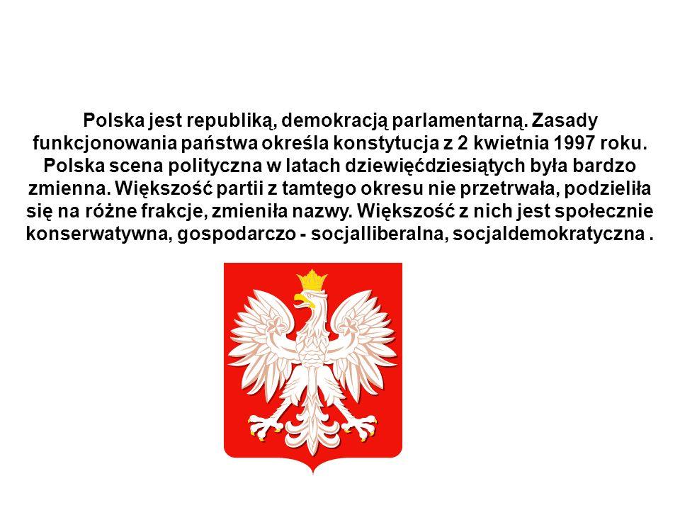 Polska jest republiką, demokracją parlamentarną