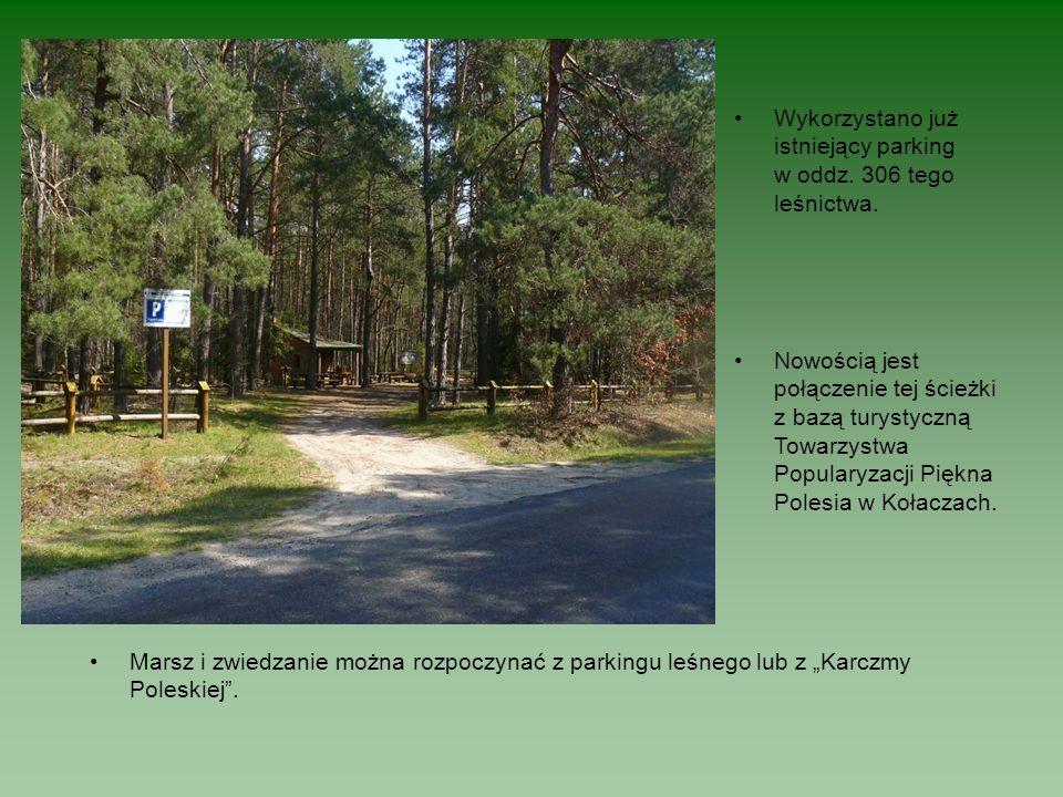 Wykorzystano już istniejący parking w oddz. 306 tego leśnictwa.