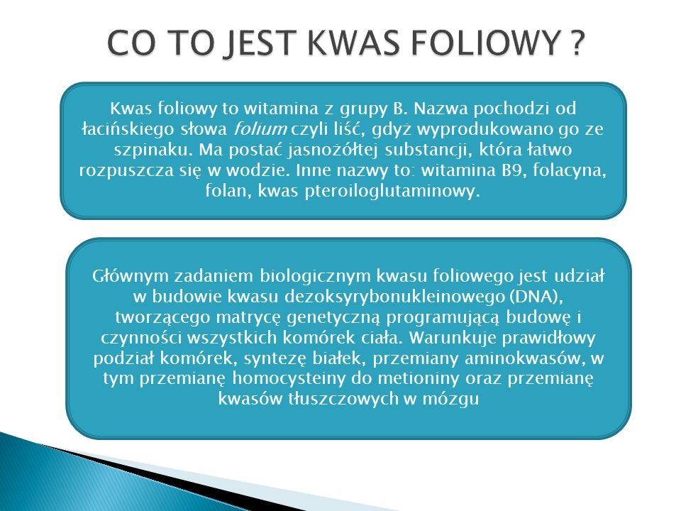 CO TO JEST KWAS FOLIOWY