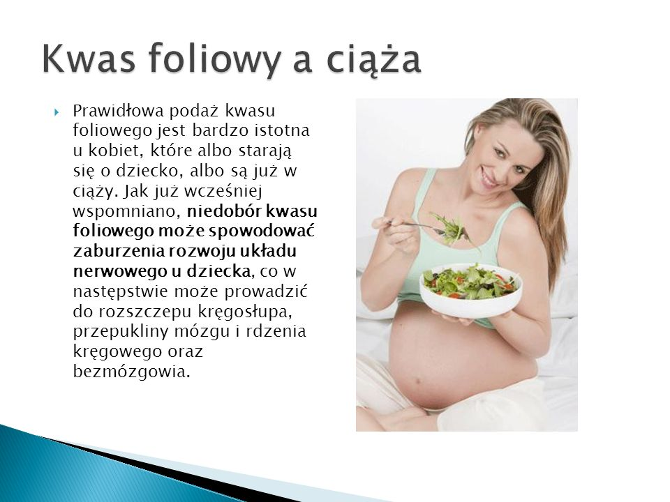 Kwas foliowy a ciąża