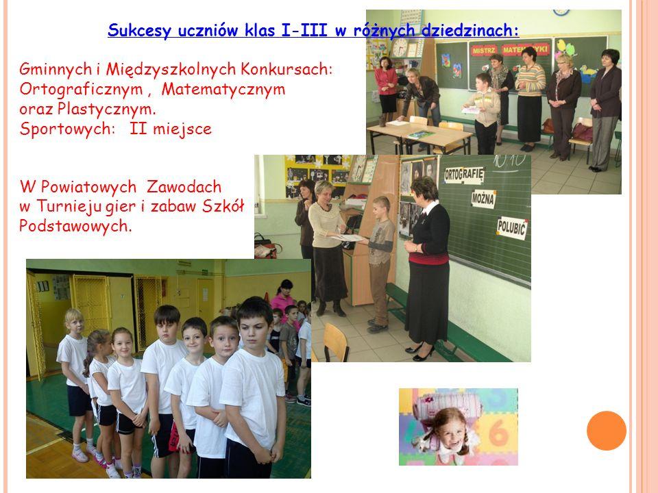 Sukcesy uczniów klas I-III w różnych dziedzinach: