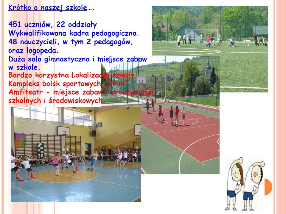 Krótko o naszej szkole….