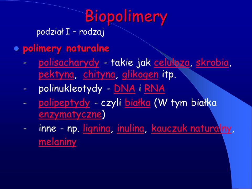 Biopolimery polimery naturalne