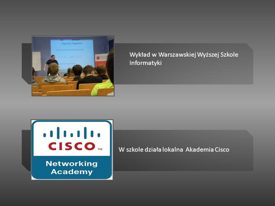 Wykład w Warszawskiej Wyższej Szkole Informatyki