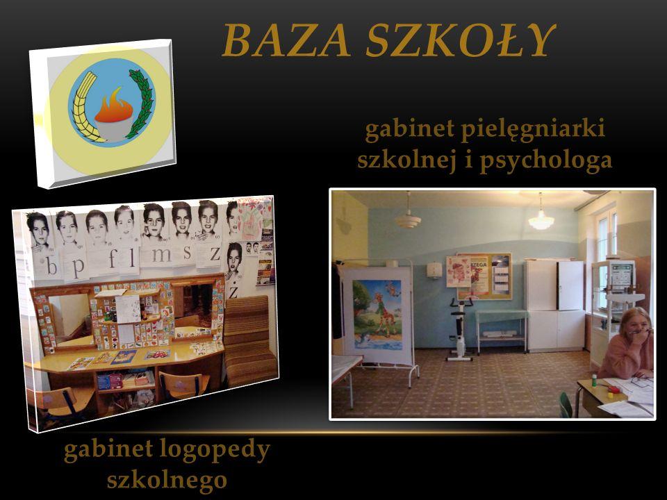 gabinet pielęgniarki szkolnej i psychologa gabinet logopedy szkolnego