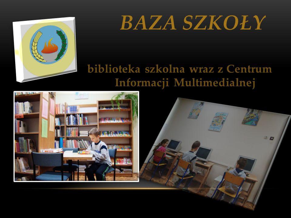 biblioteka szkolna wraz z Centrum Informacji Multimedialnej