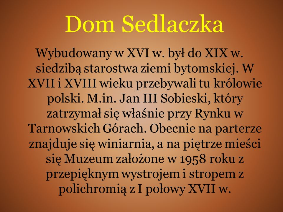 Dom Sedlaczka