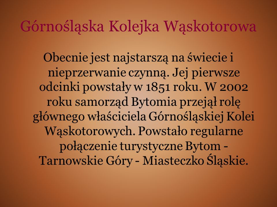 Górnośląska Kolejka Wąskotorowa