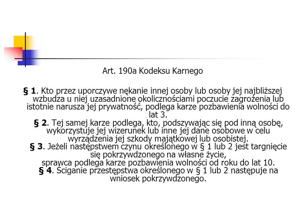 Art. 190a Kodeksu Karnego