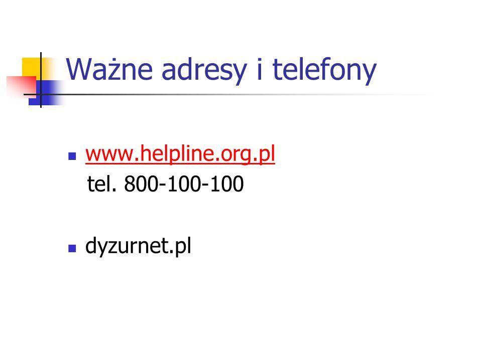 Ważne adresy i telefony