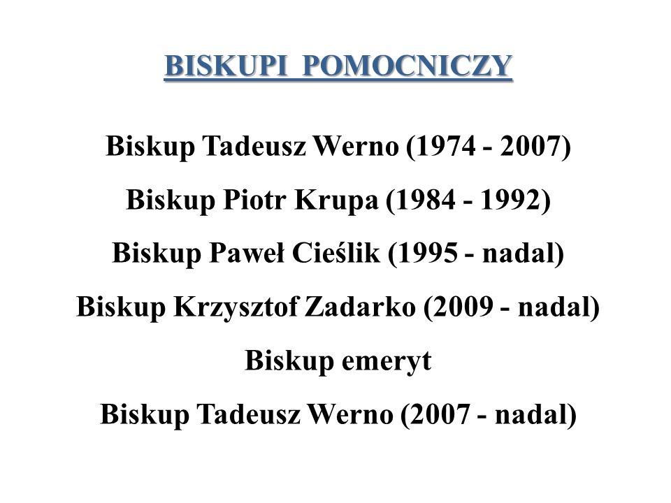 Biskup Tadeusz Werno (1974 - 2007) Biskup Piotr Krupa (1984 - 1992)
