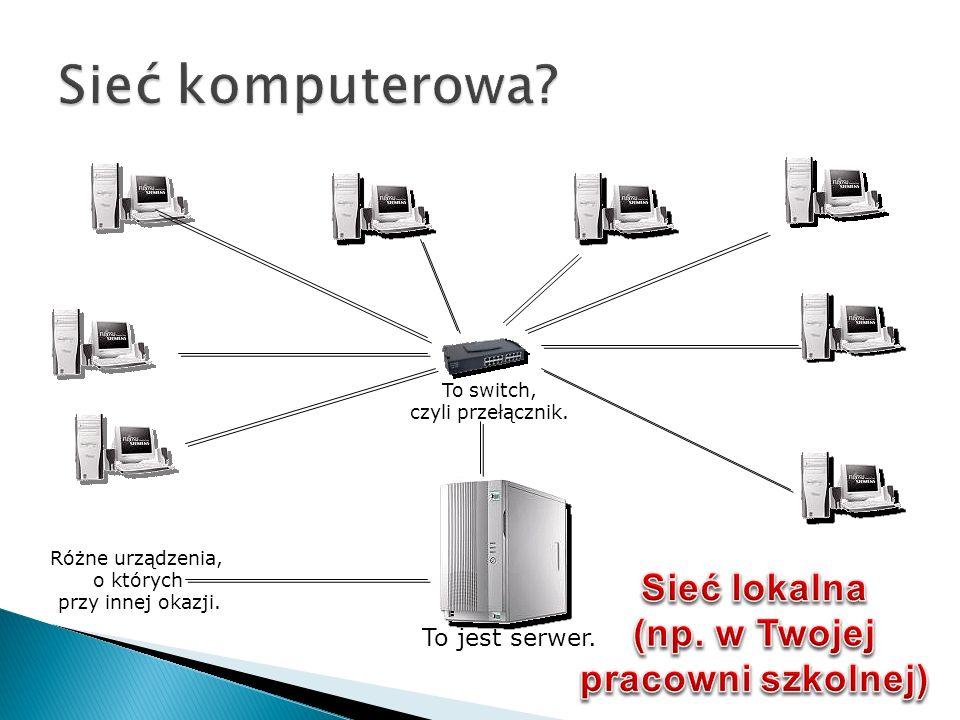 Sieć lokalna (np. w Twojej pracowni szkolnej)