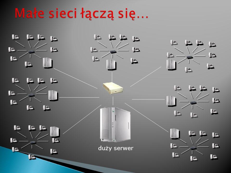 Małe sieci łączą się… duży serwer