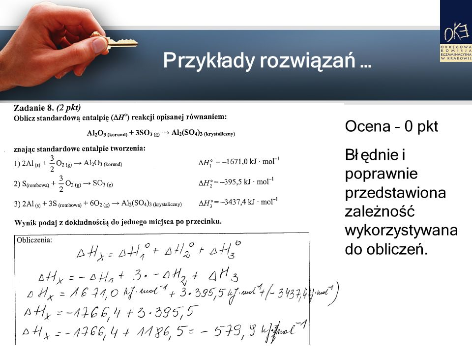 Przykłady rozwiązań … Ocena – 0 pkt