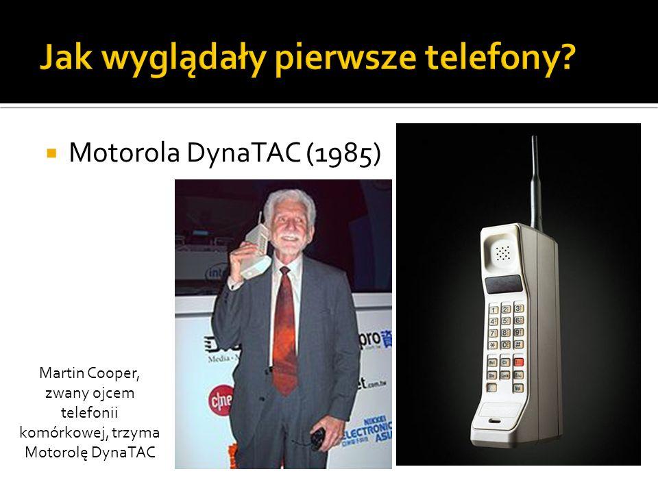 Jak wyglądały pierwsze telefony