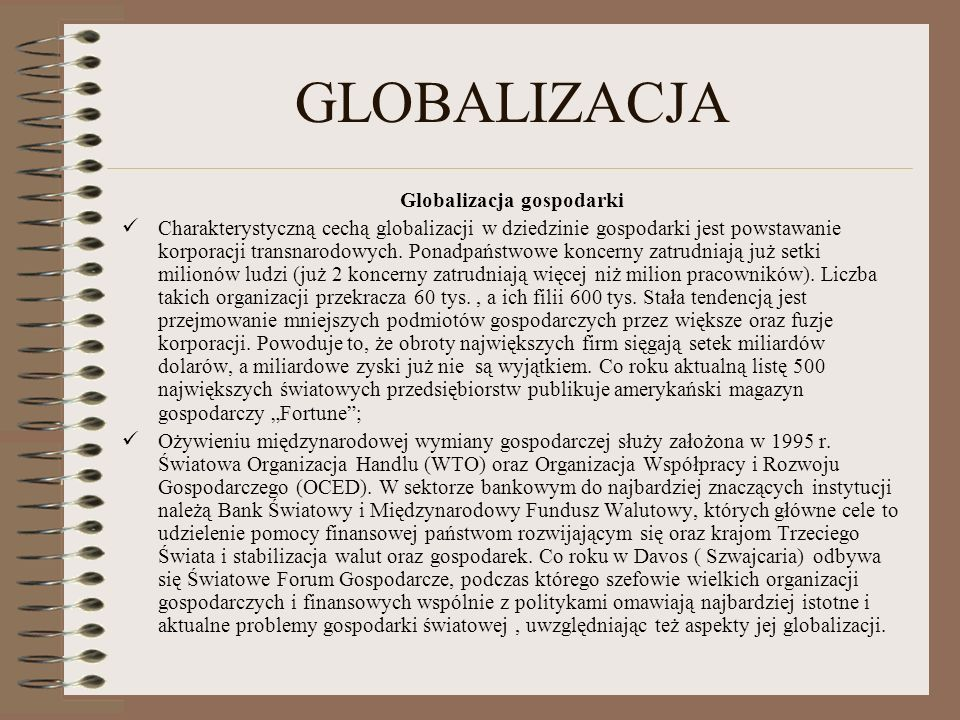 Globalizacja gospodarki