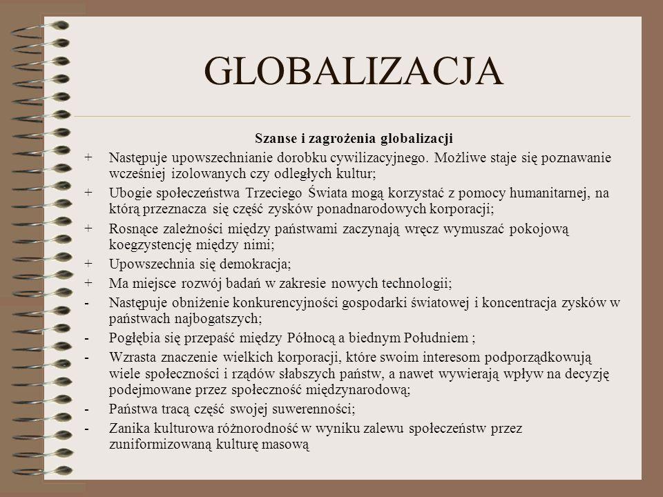 Szanse i zagrożenia globalizacji