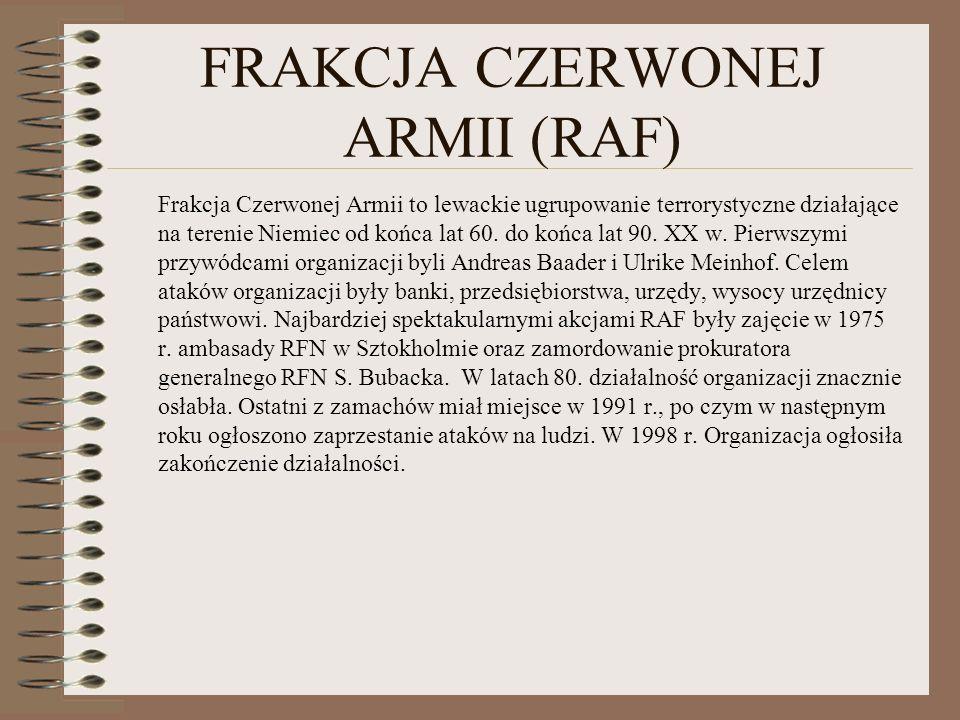 FRAKCJA CZERWONEJ ARMII (RAF)