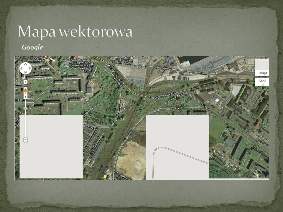 Mapa wektorowa Google