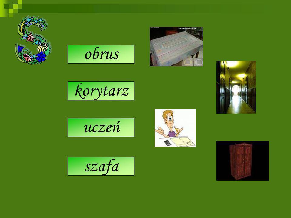 serwet obrus korytarz siyń uczeń szkolorz szrank szafa