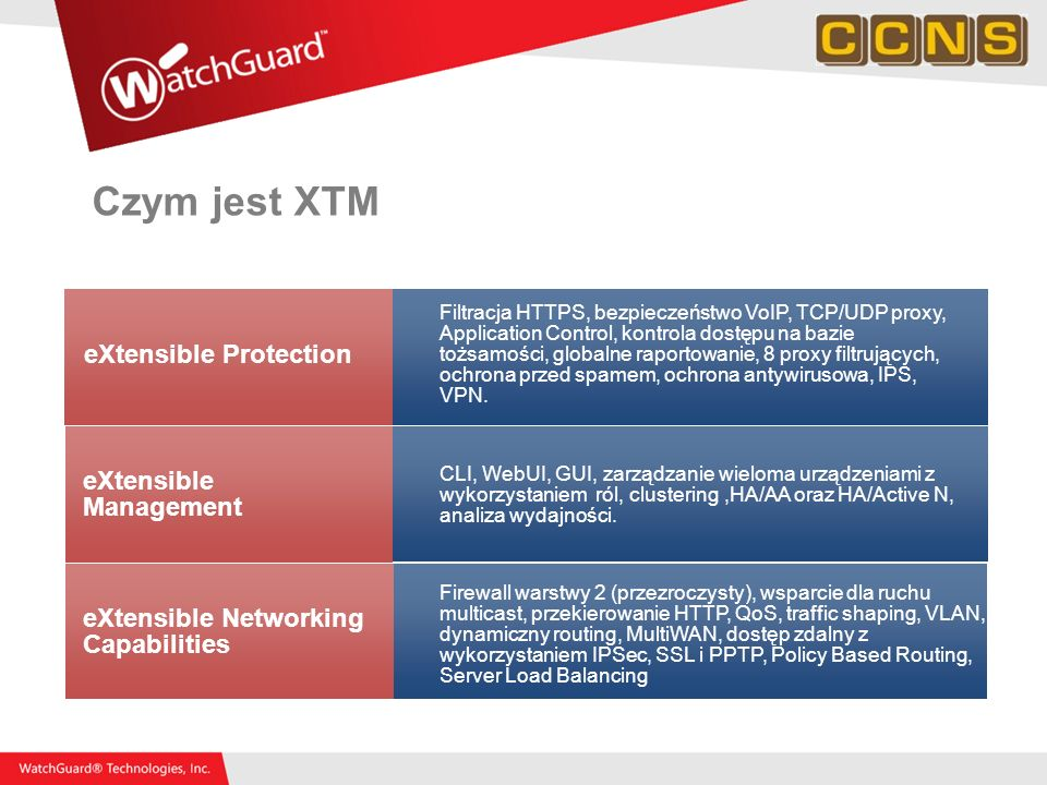 Czym jest XTM eXtensible Protection eXtensible Management