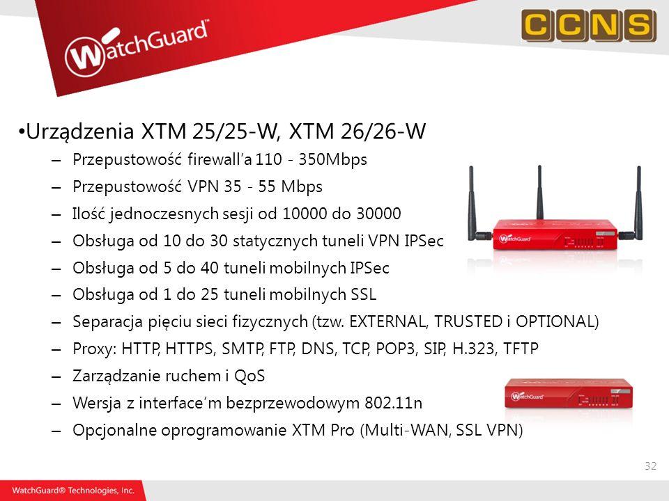 Urządzenia XTM 25/25-W, XTM 26/26-W
